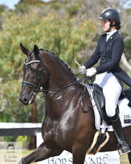 Dana Krause is pictured aboard, 'Taittinger VDS' by Regardez Moi out of a Jive Magic mare during the Complete Fire Supply Co. Young Rider Freestyle.