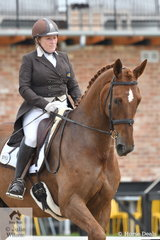 The well known and well performed dressage rider, trainer and breeder, Kerry Mack is pictured riding her own, 'Mayfield Limelight' by Whisper IV that she both bred and trained. Certainly an impressive effort with the talented horse taking fourth place in the Grand Prix Freestyle at the Homes & Acreage Boneo Park Summer Dressage Championships.