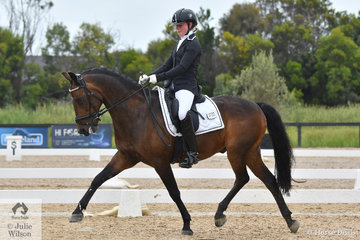 Ava Braniff took second place with 70.338% in the Alan Mance RAM Pony Freestyle riding the Warmblood/Welsh cross, 'Allengreen Medallist' by Richmeed Medallion.