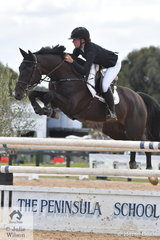 Quite a long way from home, talented Madeline Sinderberry rode , 'Keilor Bamboo', another by Balou du Rouet to take second place in the Young Rider class.