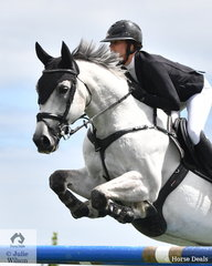 Tesse Cook rode her, 'Allwynds Valhero' to third place in the Homes and Acreage Mini Prix.
