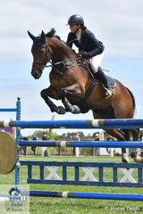 Nina Griffiths rode Mr Zizou to sixth place in the Mini Prix .