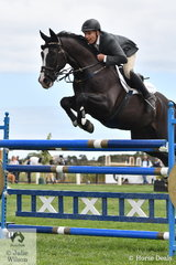 Russell Johnstone from Whittlesea had a good day at the  Homes and Acreage World Wetlands Showjumping Championships and rode Gregor and Sandra McCann's imported 'Dondersteen' to take second place in the Mini Prix.