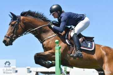 Jess Pateman rode her impressive  'Celso' to seventh place in the Browns Sawdust and Shavings Grand Prix.