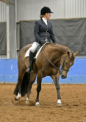 Cindy Calleweart riding Good Therapy in Hunt Seat Equitation.