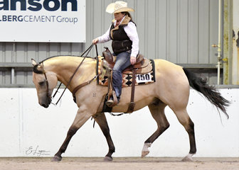Crown K Chexy Lil Rascal and Kylieann Turcio showing in Ranch Trail