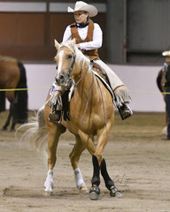 Fancy Two Step shown by  Kerry Rabottini in the reining.