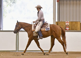 Heza Workin Class Man with  Marlene Doom in Ranch Riding.