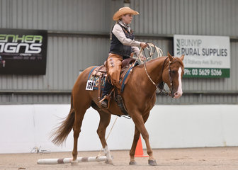 Genetically Awesome ridden by  Sara Agnew in Open Ranch Trail
