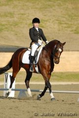 Kathryn Crofts from NSW rode Snapdragon in the Capricorn Feed Bins Preliminary 1.3 to score 62.2%.