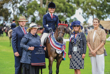 Malibu Park Tip Top owned by Paul & Kerry Dunstan & prepared by Brooke & Tahlia Young had a dream Barastoc getting the double of Childs & Open Large Pony Championships over the two weekends of competition.