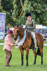 Sophie Falch & Duchess of Davito took 3rd place in the Childs Small Hunter Galloway. Sophie had already tasted success earlier in the day riding Judy Ivorys KP Simply Exquisite who was awarded the Reserve Champion Childs Large Galloway.