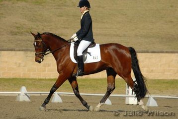 Jody Wynn from NSW rode J Lee In Vogue in the Capricorn Feed Bins Preliminary 1.3 to score 61.2%.