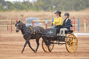 Sandy Hodgetts driving 'Brosher Park Custer'