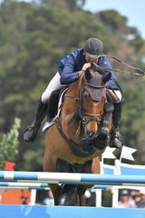Andrew Lamb with his super, 'CP Argento' (Vivant/CP Argentina) during the first round of the World Cup Qualifier.