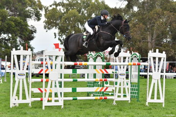 Izzy Stone from the ACT jumped four and clear aboard her stallion, 'Lincoln MVNZ' to take fifth place in the World Cup Qualifier.