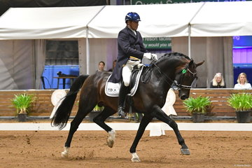 Dirk Dijkstra has been involved with DWTS from the beginning. He is pictured aboard his, 'AEA Metallic' by Metall on their way to third place in the Grand Prix Freestyle.