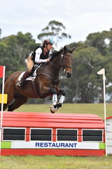 Lisa North rode Magical Mystical Merlin to third place in the Pryde's CCI**.