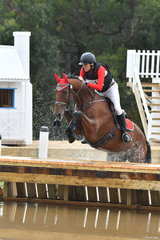 Stephen Stacey took sixth place in Section 5 of the Pryde's CCI** riding the Warmblood, 'Bellhaven Atticus'.