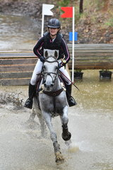 Charlotte Sheldon and 'Townshend LS' clearly have their mind on the job during Section 2 of the Horseland CCI***.