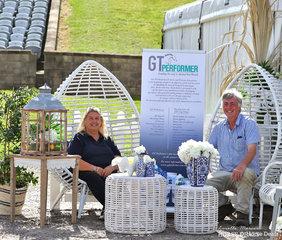 """Major Sponsors of the Southern Cross Show Horse Spectacular Judy & Geoff Tyre of """"GT Performer"""" enjoying the sponsors marquee."""