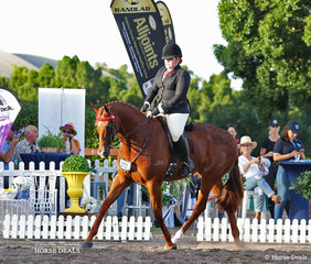 """Placegetters in theChampion All Stars Thoroughbred Classic event Orleans Graetz and """"Carona Park Victory"""" (ATSB Torrential Reign)."""