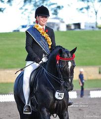 Winner of the JUST NEIGH Grand Champion Rider 12 & under 18 years was Sarah Allsopp.