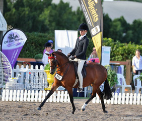 """Champion Open Medium Pony """"Thorne Park Dance All Night"""" ridden by Millie Quigley Smith and owned by Margaret Burrows."""