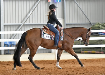 KLI Temperance ridden by Kate Mawson in the Youth Reining.