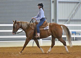 Chloe Nesci and Amoretto competing in Youth Ranch Riding.