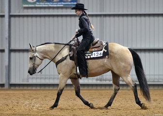 Rebecca Nixon and This Chics No Wimp in the Open Ranch Riding.