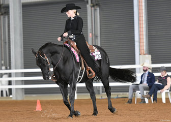 Colonel Cosgrove and Anne Beck in the Novice Amateur Horsemanship.