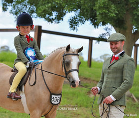 """Maia Warren's """"Imperial Bow Tie"""" ridden by Mackenzie Slater was third in the RPSBS NSW Leading Rein Pony event."""