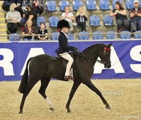 "Isla Grubisa rode ""Koorana Magnifique"" in the MELBROCK PARK Rider 9 & under 12 years event."