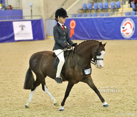 "Tiana Schaefer rode Naomi Karutz's ""Eagle Park Showdown"" in the MP GLOSS PRODUCTS Child's Small Show Hunter Pony event."