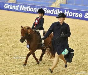 Maisy Saunders placed 3rd in the GIDDY UP GIRL Tiny Tots EVENT, pictured on the winners victory lap.