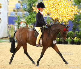 """Third placegetter in the ROBBANIE STABLES Small Saddle Pony event """"Braeburn Park Spring Dance"""" and Annabelle Richardson."""
