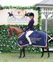 """The ROBBANIE STABLES Reserve Champion Small Pony """"Carlton Park Firefly"""" owned and ridden by Stacey Hayter."""
