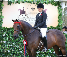 """Third placegetter in the CBC CONSTRUCTIONS Small Galloway event """"Kolbeach Contessa"""" with owner Joanne Stewart."""