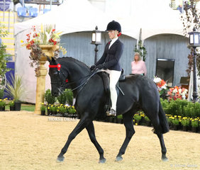Becky Roberson placed Top 10  in the COUNTY SADDLERY LD Rider 15 & under 17 years event.