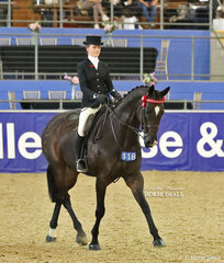 """Third placegetter in the GIDY UP GIRL Rider 17 & under 21 years event Ebonie Lee, riding """"St Andrews""""."""