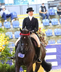 """Syenna Vasilopoulos was Top 10 in the EURORIDER AUSTRALIA Rider 21 & under 30 years, riding """"Hollands Bend Royal Consort""""."""