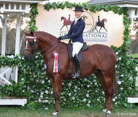 "Katrina Christensen competed in the EURORIDER AUSTRALIA Rider 21 & under 30 years event, riding ""Kat's Jaguar""."