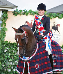 The EURORIDER AUSTRALIA Grand National Champion Rider 21 & under 30 years Samantha McMaster.