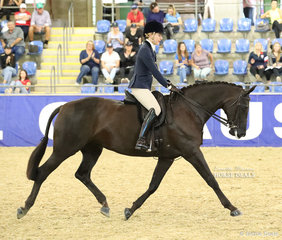 """Sarah Ryan and """"EBL Excite"""" working out in the SYDNEY SOLVENTS Large Show Hunter Hack event."""
