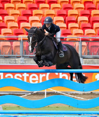 Isabella Du Plessis riding 'Monte Carlo MVNZ' winners of the Young Riders Jumping Contest, Table A.