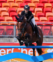 Competing in the Young Rider Grand Prix Emily Fisher and 'Picableu'.