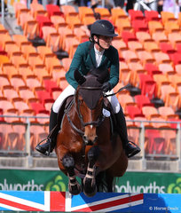Sterling Park Equestrian's entry 'Belcam Cachi' and Emily Gobbe captured during the Accumulator Jumping Contest.