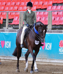 Elka Peterson rode Ashley Clarke's 'Cedar Park Tequila Rose' to win the Child's Show Hunter Hack, over 15hh class.