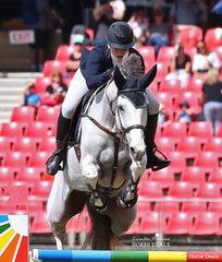 Melissa Blair and 'Zidora' placed third in the Jumping Contest Table A.